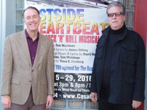 Tom Waldman, writer, and James Holvay, music composer, Eastside Heartbeats